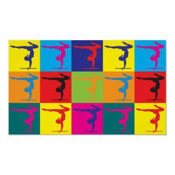 Gymnastics Pop Art Posters from Zazzle.com