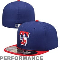 New Era Texas Rangers Diamond Era  59FIFTY Fitted Hat - Royal Blue/Red