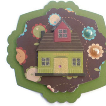 Home, New Home, House Scrapbook embellishment, Paper piecing, paper flower, gift tags, Scrapbooking Layouts, Cards, Mini Albums Paper Crafts