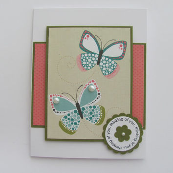 Thinking of You Card, Butterfly Card