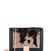 Sequin detail clutch bag - Rose Gold | Bags | Ted Baker