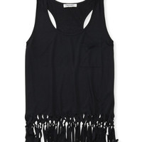 Aeropostale  Womens Fringe Pocket Tank Top