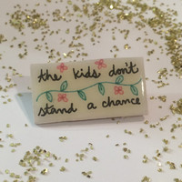 Vampire Weekend Floral Pin