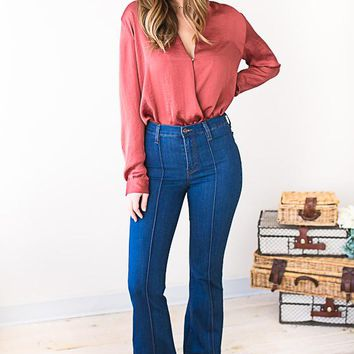 And So It Goes Retro Flare Jeans