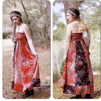 Boho festival maxi dress, red dress, bohemian dresses, True Rebel Clothing