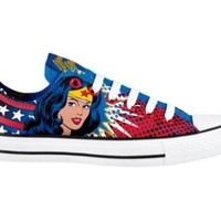 Converse All Star Lo Wonder Woman Athletic Shoe, Wonder Woman, at Journeys Shoes