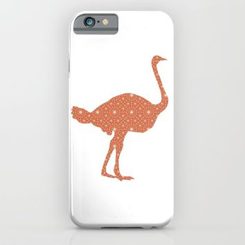 OSTRICH SILHOUETTE WITH PATTERN iPhone & iPod Case by deificus Art