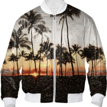 Hawaiian Sunset Bomber Jacket created by Blooming Vine Design | Print All Over Me