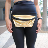 Gold Fanny Pack / Adjustable Strap