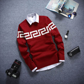 Long Sleeved Sweater Red Wine