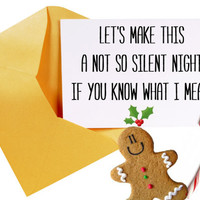 Sexy Christmas Card/Funny Christmas Card/Christmas Card For Boyfriend or Girlfriend/Funny Cute Christmas Card/Silent Night