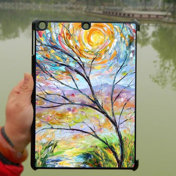 Oil Paintings iPad Case,Sun tree iPad mini Case,iPad Air Case,iPad 3 Case,iPad 4 Case,ipad case,ipad cover, ipad mini cover ipad air,iPad 2/3/4-117