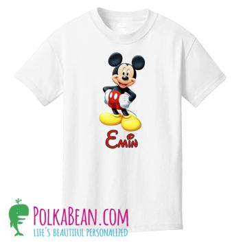 Kids Personalized Disney Mickey Mouse Girls or Boys Shirt or Onesuit