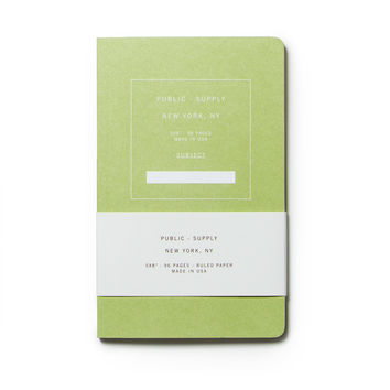 Public Supply Notebook - Green