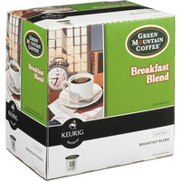 1 Case Keurig K-Cup Green Mountain Breakfast Blend Coffee 18 Cups/Case