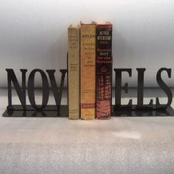 Novels Text Bookends by KnobCreekMetalArts on Etsy