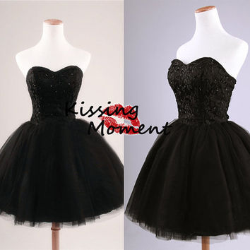 2014 New Arrival Black Short Prom From Kissingmoment On Etsy