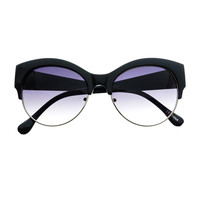 Large Half Frame Designer Fashion Retro Cat Eye Sunglasses C67