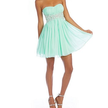 B. Darlin Beaded Waist Party Dress | Dillards