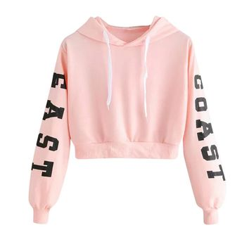 #4 DROPSHIP 2018 NEW HOT Fashion Womens Letters Long Sleeve Hoodie Sweatshirt Pullover Tops Blouse Freeship