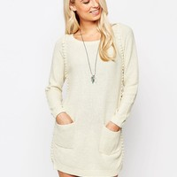 See U Soon Jumper Dress with Bobble Detail