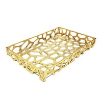 Byron Tray Gold Leaf by Worlds Away