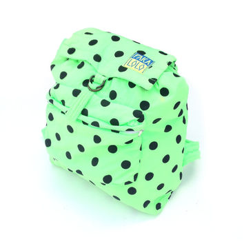 Insane 80s Neon Polka Dot Paka Lolo Backpack
