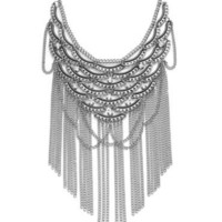 Bar III Necklace, Silver and Hematite Plated Layered Chain Statement Necklace - Fashion Jewelry - Jewelry & Watches - Macy's
