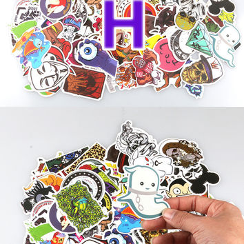 [13050] Bezgar Car Stickers Motorcycle Bicycle Luggage Decal Graffiti Patches Skateboard Stickers for Laptop