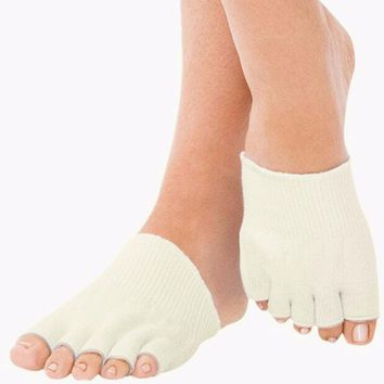1 Pair Compression Toe Separating Socks Heel Pain Relief New Sport Socks calcetines