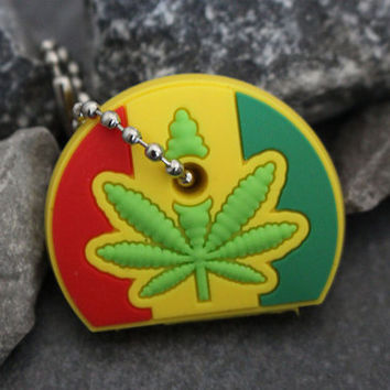 Marijuana Key Cap, Pro Medicinal Marijuana Keychain, Keyring, Key Cover, Key Fob, Key Chain, Gifts for Her, Gifts for Him, Gifts for Stoner