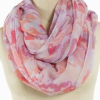 Distorted Floral Eternity Scarf