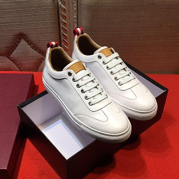 Bally Helliot Men's Plain Calf Leather Trainer White Sneakers Shoes - Sale