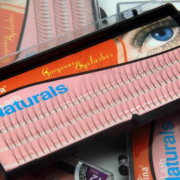 NAVINA 102 Strips 3D Individual False Eyelash Fake Eyelashes Extension Strips 8mm/10mm/12mm Non Knot NAVINA D-Lash 0.12mm W Lash