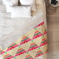 Elisabeth Fredriksson Teepees Fleece Throw Blanket