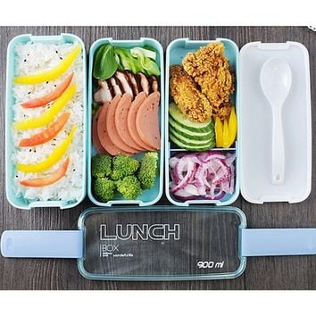 Fashion Portable 3 Layer Bento Lunch Box Microwave Food Storage Picnic Container Sup