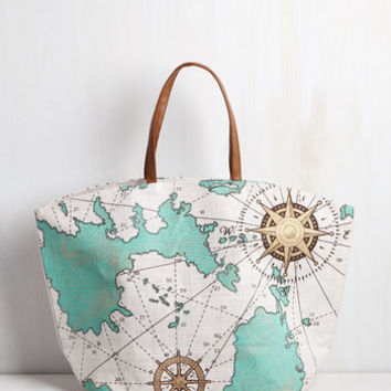 Nautical Whole World In Your Handles Bag by ModCloth