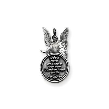 Guardian Angel Never Drive Faster Car Charm