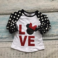 Minnie Mouse Polka Dot Love Shirt