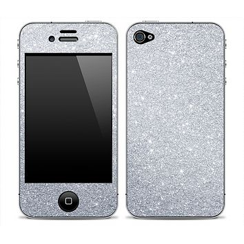 Silver Glitter Ultra Metallic Skin for the iPhone 3gs, 4/4s or 5