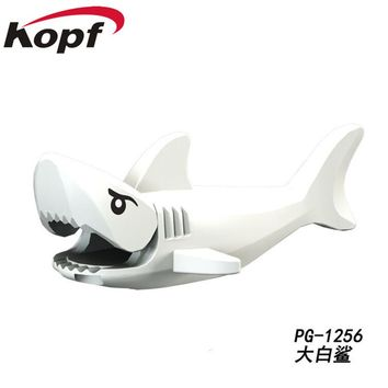 Single Sale Great White Shark Pirates of the Caribbean Figure Ghost Zombie Jack Sparrow Building Blocks Toys for children PG1256