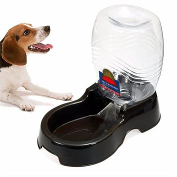 Useful Plastic 946ml Pet Dog Cat Large Automatic Water Dispenser Food Stand Feeder Dish Bowl Bottle Drinking Fountain