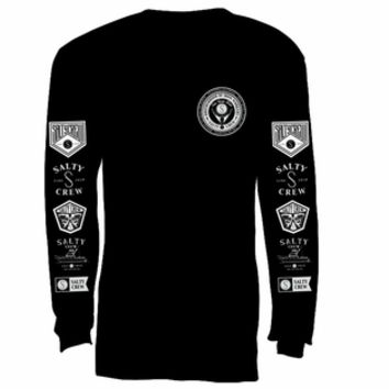 Salty Crew Iron Workers Long Sleeve T-Shirt Black