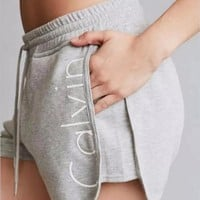 letters printed casual pants shorts