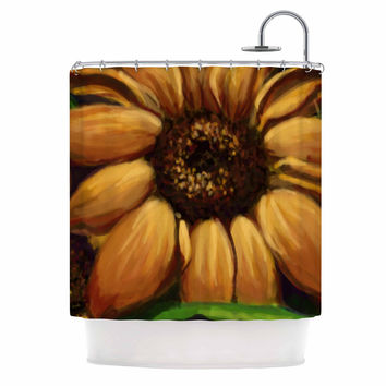 "Cyndi Steen ""Sunflower Days"" Yellow Floral Shower Curtain"