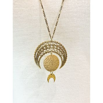 Lacy Moon Phase Necklace