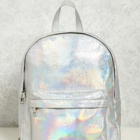 Iridescent Structured Backpack