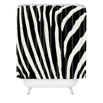 Natalie Baca Zebra Stripes Shower Curtain