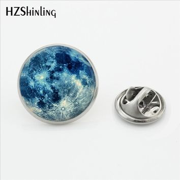 New Design Galaxy Moon Surface Universe out of Space Brooches Astronomy Geek Jewelry Nebula Brooch Stainless Steel Lapel Pins