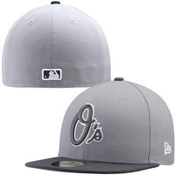 New Era Baltimore Orioles Hyper Tint 59FIFTY Fitted Hat - Gray